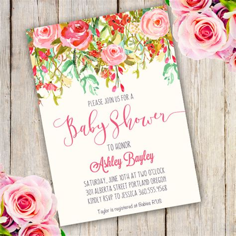 Bridal Shower Invitation Template whimsical baby shower invitation template edit with