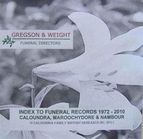 Qld Records Queensland Genealogy Index To Funeral Records 1972 2010