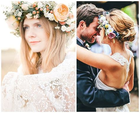 68 flower crown ideas to complete your wedding hairstyle flower crown wedding hairstyles hairstyles