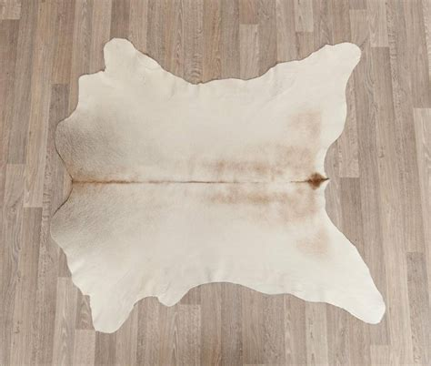 light beige calf skin rug large beige calf leather home