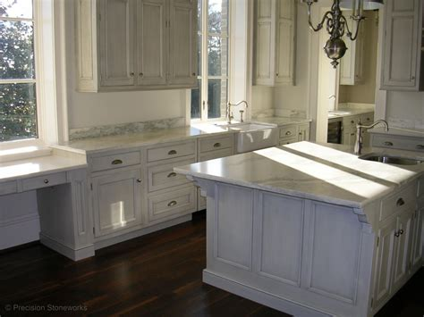White Marble Kitchen Countertops by Atlanta Granite Kitchen Countertops Precision Stoneworks