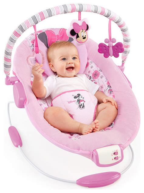 minnie mouse baby swing disney baby minnie mouse precious petals bouncer