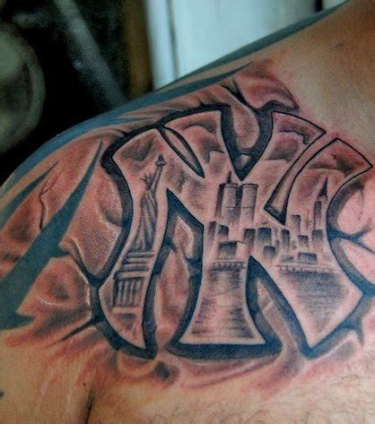 photo : tatouage simplifié du paysage de new york avec le