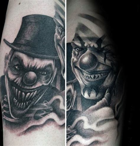 75 clown tattoos for men comic performer design ideas