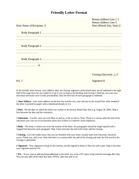 how to end a friendly letter 2018 friendly letter format fillable printable pdf