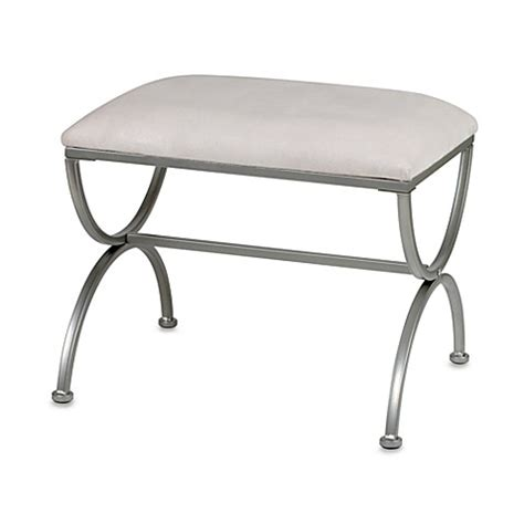 Bathroom Vanity Bench Stool Vanity Bench In Satin Nickel Bed Bath Beyond