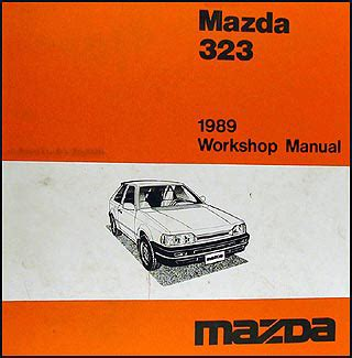 1989 mazda familia transmission technical manual