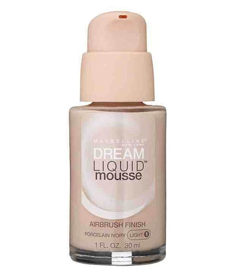 Maybelline Liquid Foundation maybelline liquid mousse foundation porcelain ivory light 1 30ml buy maybelline