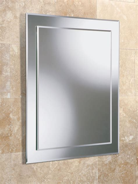 Hib Olivia Rectangular Bevelled Mirror On Mirror 400 X Square Bathroom Mirror