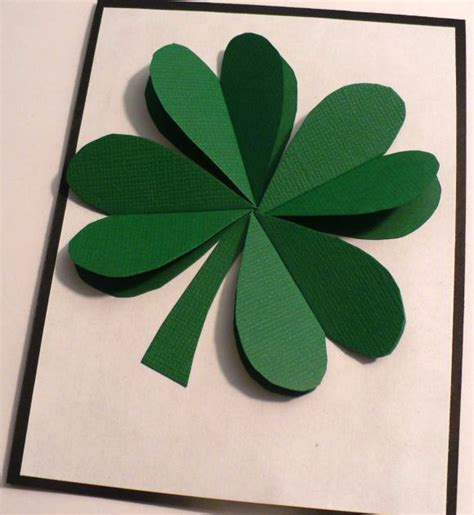 make a 3d paper shamrock 187 dollar store crafts