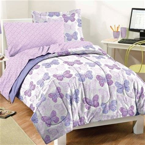 butterfly comforter sets butterfly prints purple and white comforter set