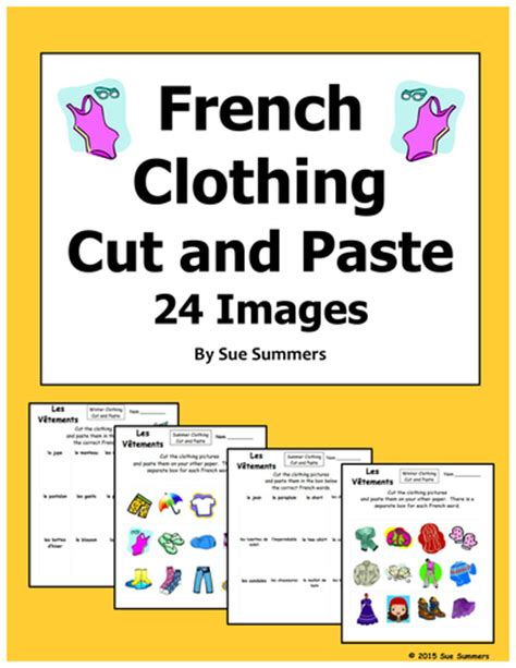 cutting pasting games french clothing cut and paste game cards by