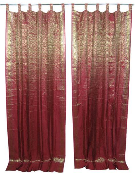 curtains maroon 2 sari curtains silk maroon gold brocade drapes window