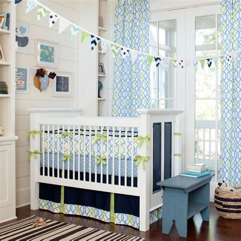 Green And Blue Crib Bedding Inspirational Modern Crib Bedding With Lovely Color Combination Housebeauty