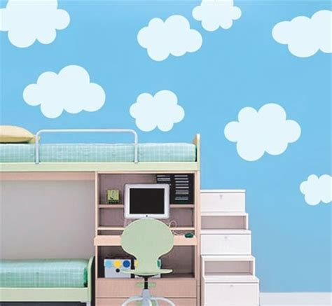 Cloud Decals For Ceiling fluffy cloud wall decals cloud decal white cloud wall