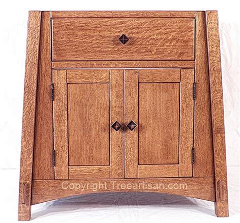 quarter sawn oak bathroom cabinets quarter sawn oak amish mccoy mission vanity bathroom sink