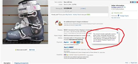 ebay import charges questions about the global shipping program page 94