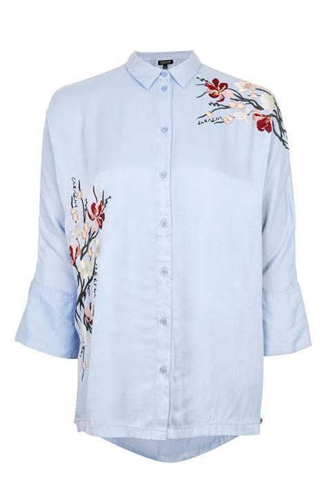 tokyo fusion embroidered shirt topshop
