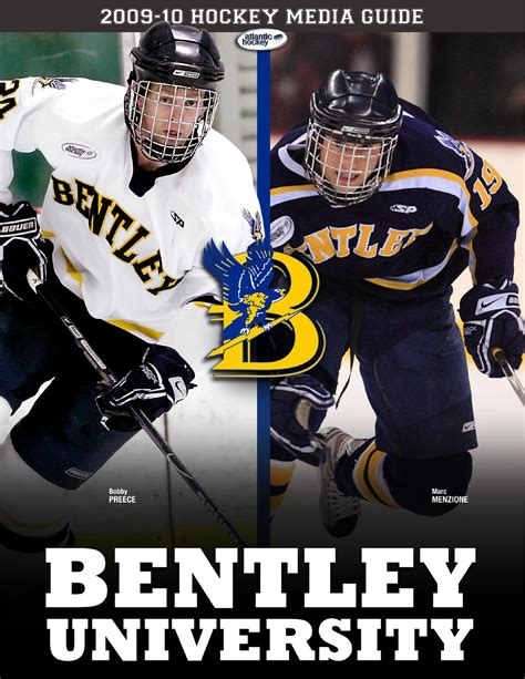 bentley hockey 2009 10 bentley hockey media guide by lipe