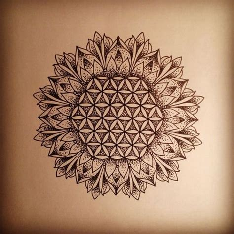 flower of life tattoo sunflower tattoos flower of and geometry on