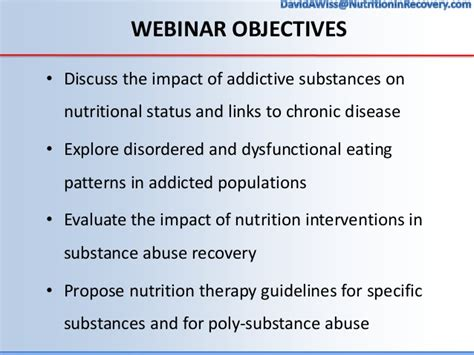 Treatment Goals For Detox Patient by Nutrition Interventions In Addiction Recovery The Of