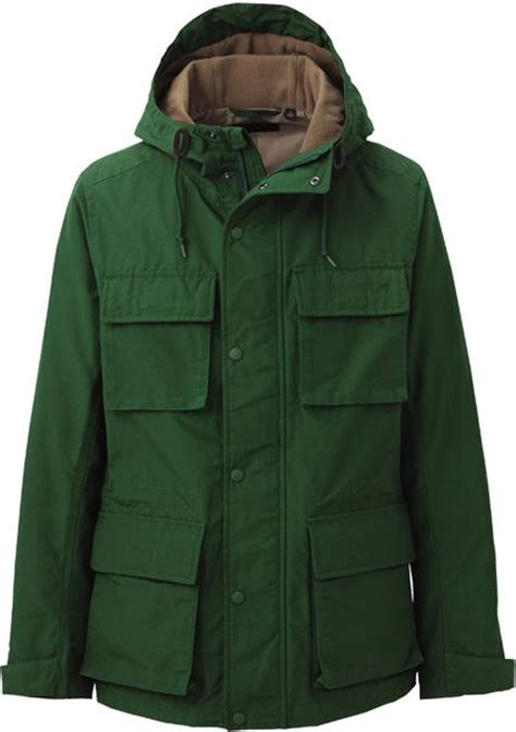 Uniqlo Navy Mountain Parka Jacket uniqlo mountain parka in green for lyst