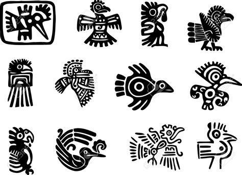 aztec bird tattoo этнические символы вектор 15 тыс изображений найдено в