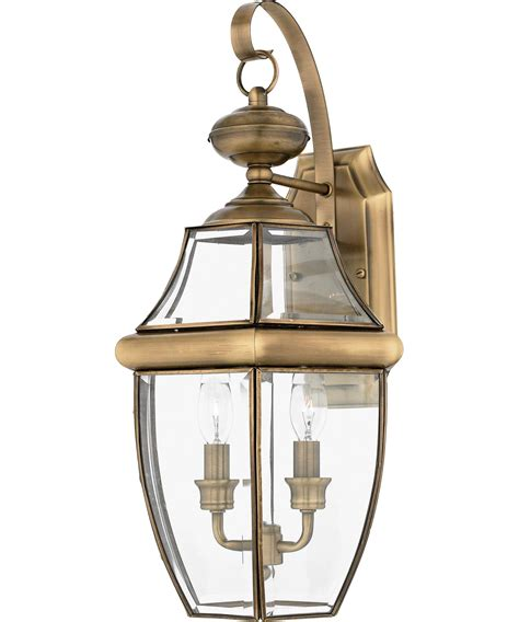 Quoizel Outdoor Lighting Quoizel Ny8317 Newbury 11 Inch Wide 2 Light Outdoor Wall