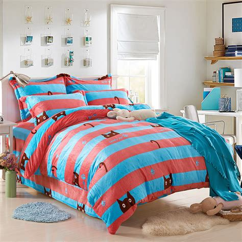 cat comforter sets girls comforter sets totoro bed sheets striped comforters