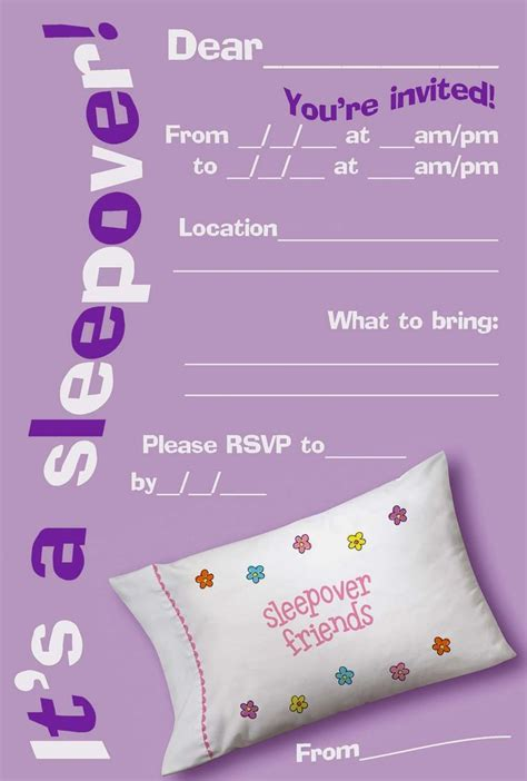sleepover invitation template 25 best ideas about slumber invitations on
