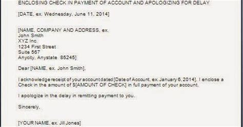 Apology Letter Payment Delay Every Bit Of Payment Delay Apology Letter