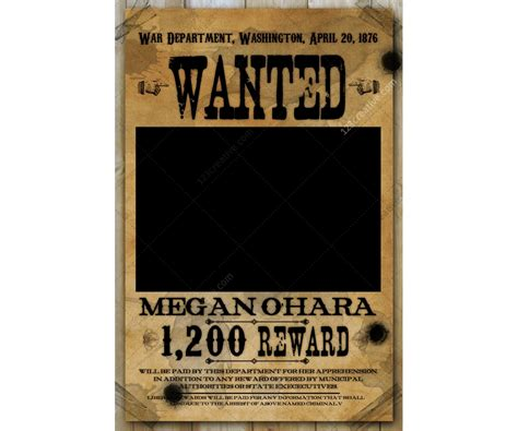 Wanted Poster Template Buy Woman Wanted Poster Wild Wanted Poster Psd