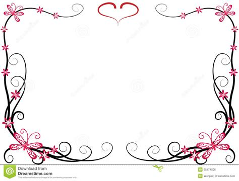 butterfly with frame stock illustration image 55174506