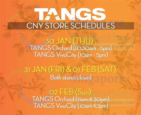 tangs new year 2014 opening hours 30 jan 2 feb 2014