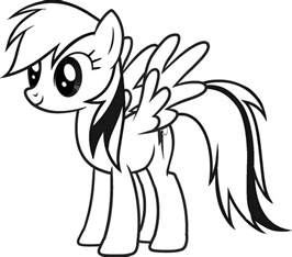 Print Coloring Page rainbow dash coloring pages best coloring pages for