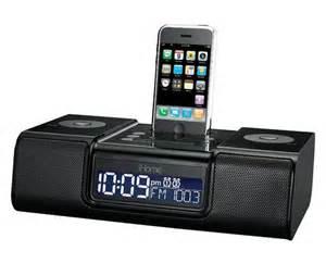 i home ihome ip9 speaker dock with clock radio for