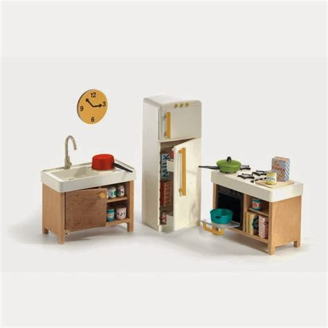 modern dolls house furniture mini modern 1 16 djeco dollhouse is throwback modern cuteness