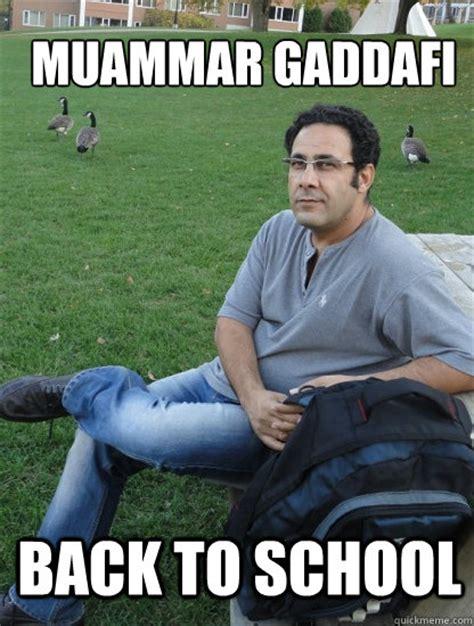 Gaddafi Meme - muammar gaddafi back to school young gaddafi quickmeme