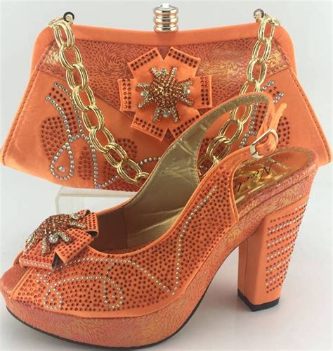 Top Quality Italian Ladies Shoes And Matching Bag Set