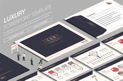 Ppt Luxury Powerpoint Template Presentation Templates On Creative Market Luxury Powerpoint Template