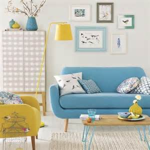 Modern white living room with colour pops simple living room designs