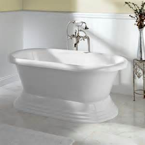 Stand Alone Jetted Bathtubs White Soaking Standing Tubs Rectangular White
