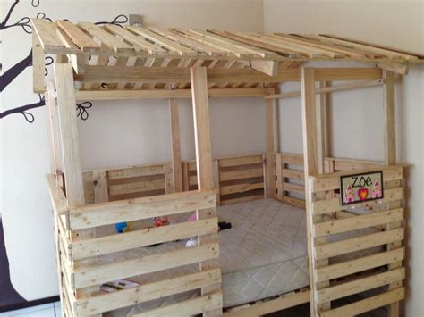 full size pallet bed casa cama hecha de pallets tama 241 o full house bed made out