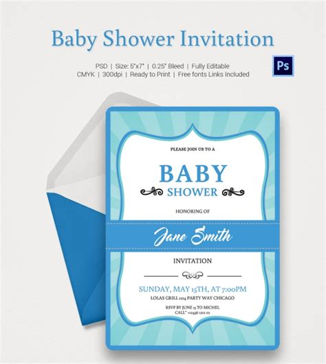 editable templates for baby shower invitations baby shower invitation template 22 free psd vector eps