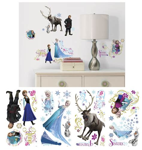 wall stickers disney disney frozen peel and stick wall decals