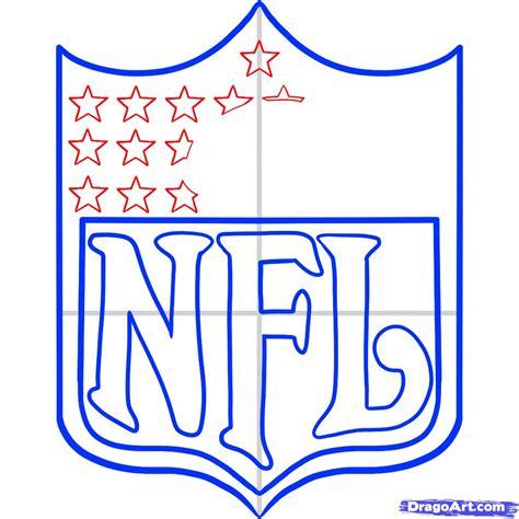how to draw nfl nfl logo step by step sports pop