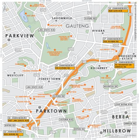 printable driving directions from one place to another parktown map