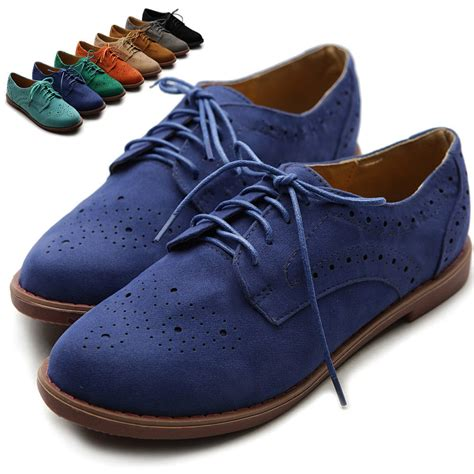 womens shoes oxfords ollio s lace up wing tip shoes dress low heel multi