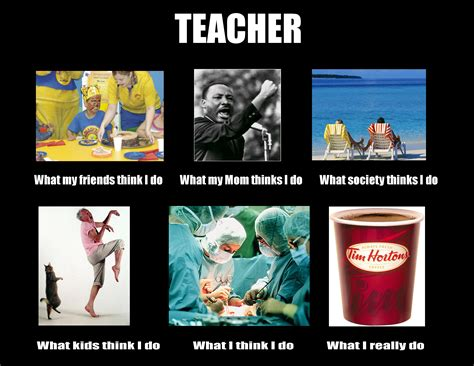 what people think a teachers summer is like vs what its image 250560 what people think i do what i really
