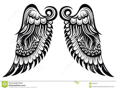 angel wings stock vector illustration of drawing graphic